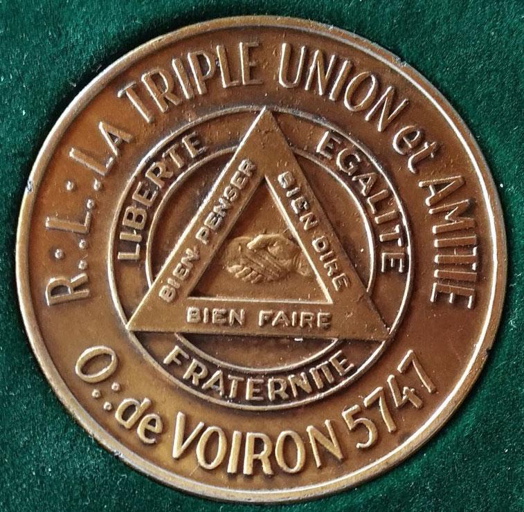 Médaille éditée pour le bicentenaire de la loge en 1988